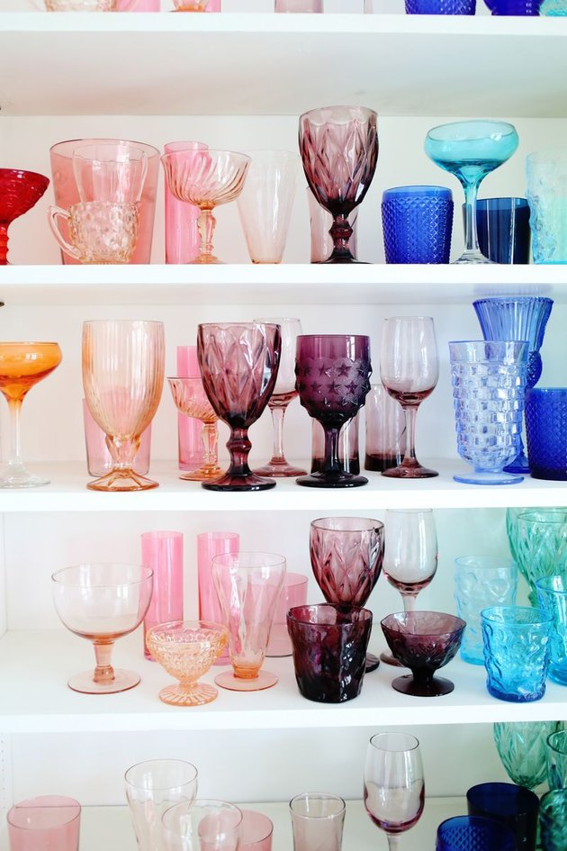 colorful glassware collection
