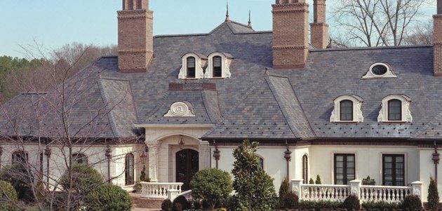 slate-roofed mansion