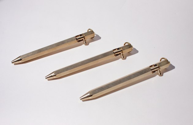 brass bolt pen by Ink & Osprey Studio