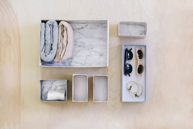 DIY bedroom idea drawer organizing boxes