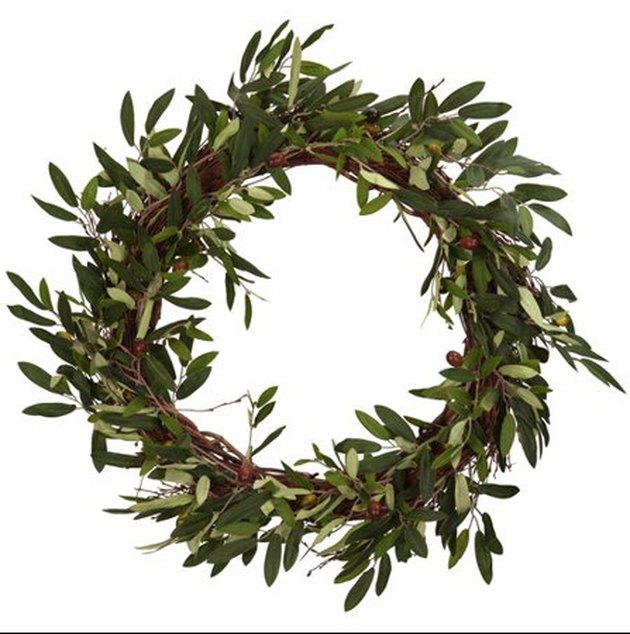 charlton home faux olive branch wreath