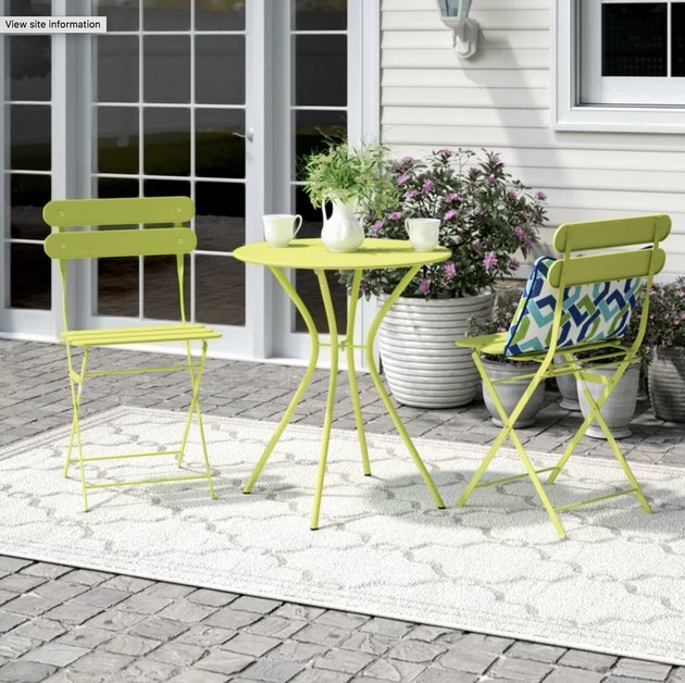 Ebern Designs Devencove 3-Piece Bistro Set
