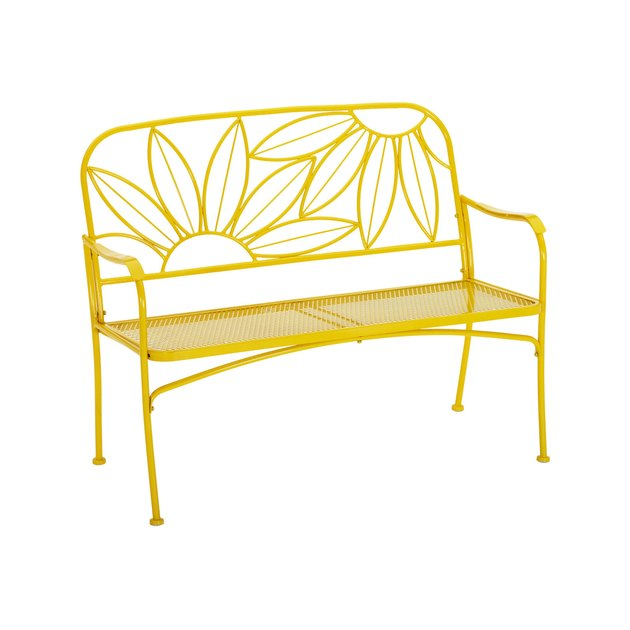 Mainstays Hello Sunny Outdoor Patio Bench