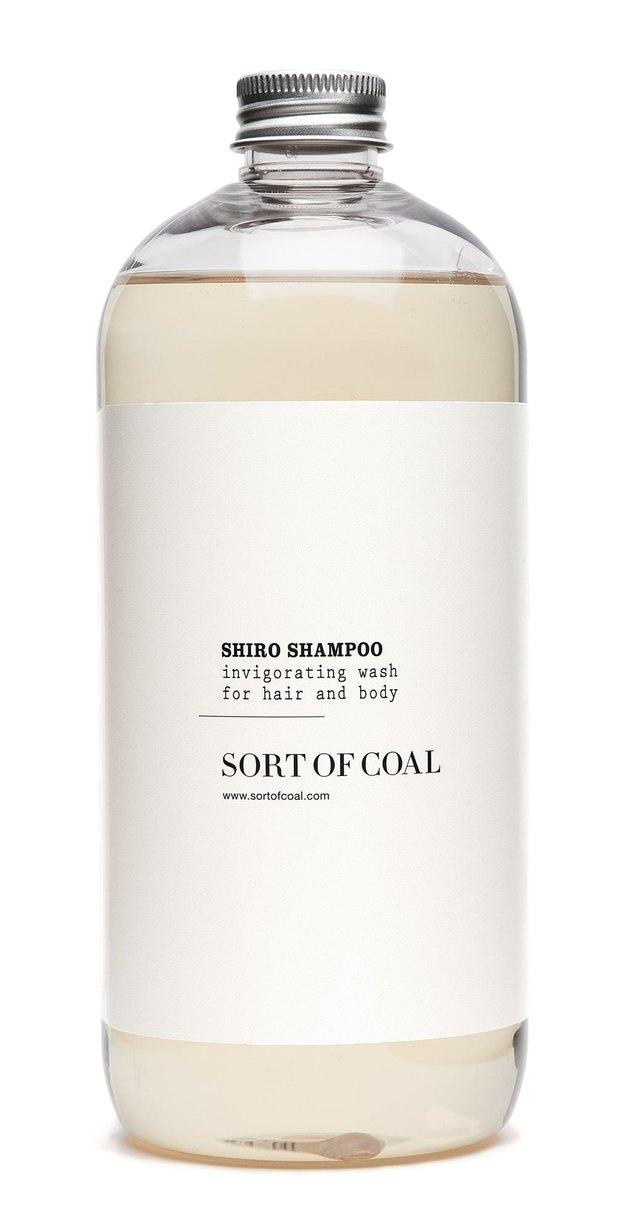 Sort of Coal shampoo, minimalist bathroom toiletries