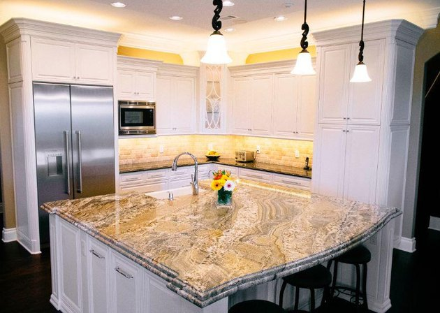 A granite countertop by Texas Star Granite