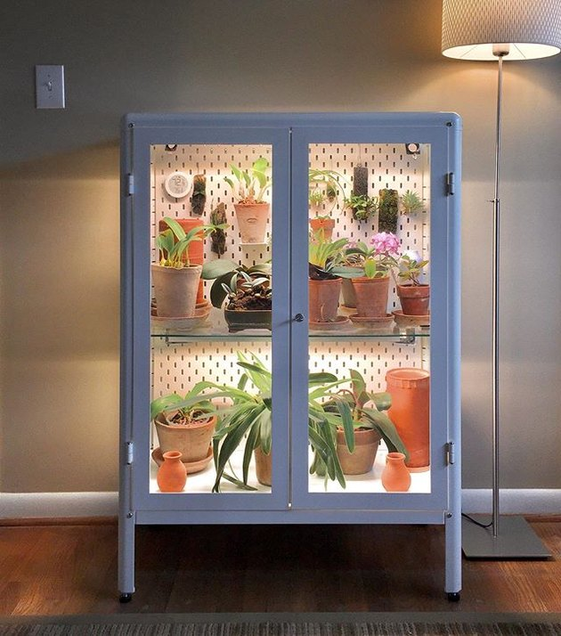 ikea cabinet greenhouse