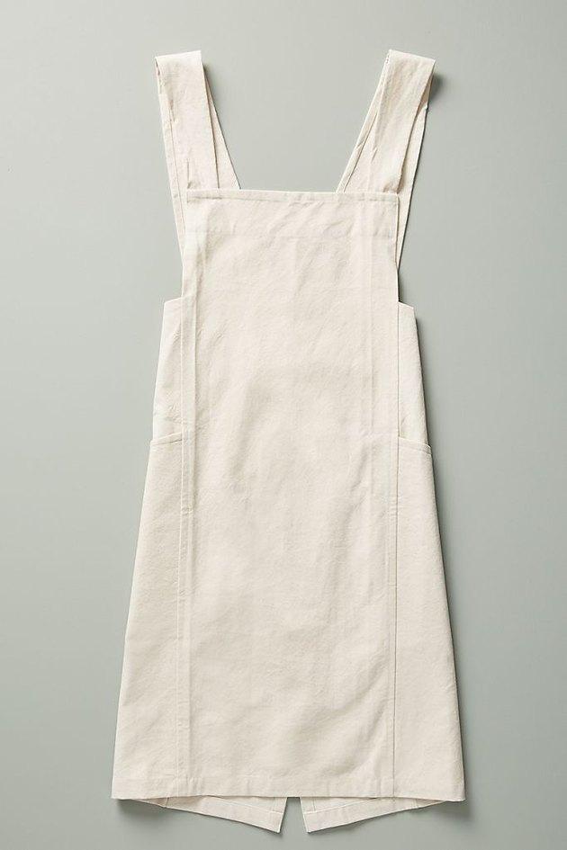 Off-white canvas gardening apron