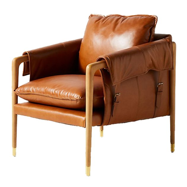 anthropologie leather chair