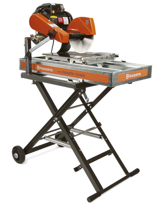 Wet tile saw manufactured by Husqvarna