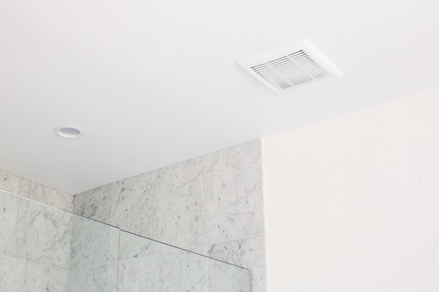 close up of bathroom vent over shower
