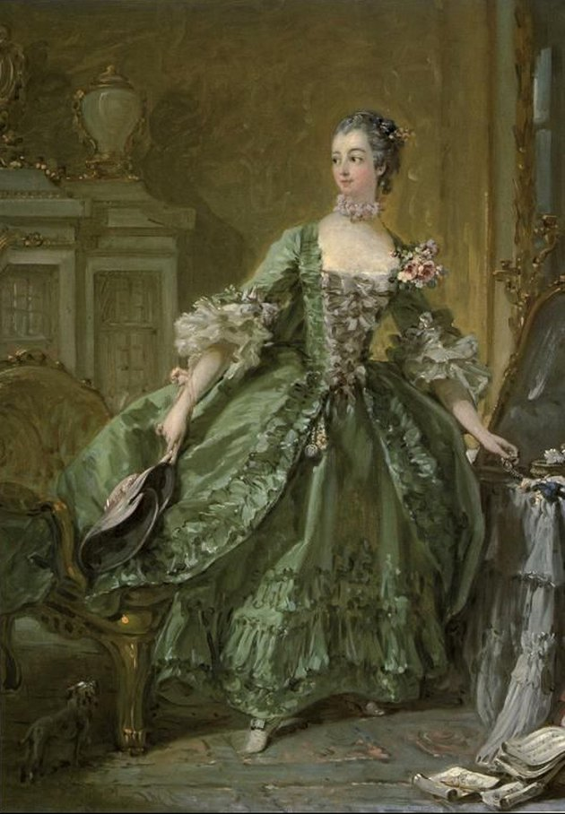 Francois Boucher Madame de Pompadour Standing at her Dressing Table