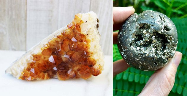 Citrine and Pyrite