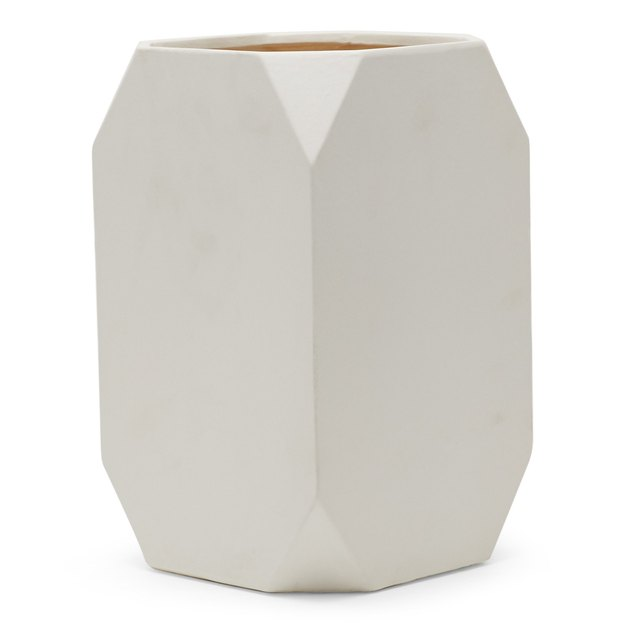 MoDRN Square White Ceramic Planter