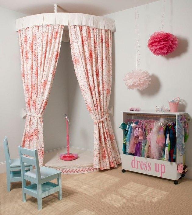 Basement Playroom Ideas with handmande kid stage