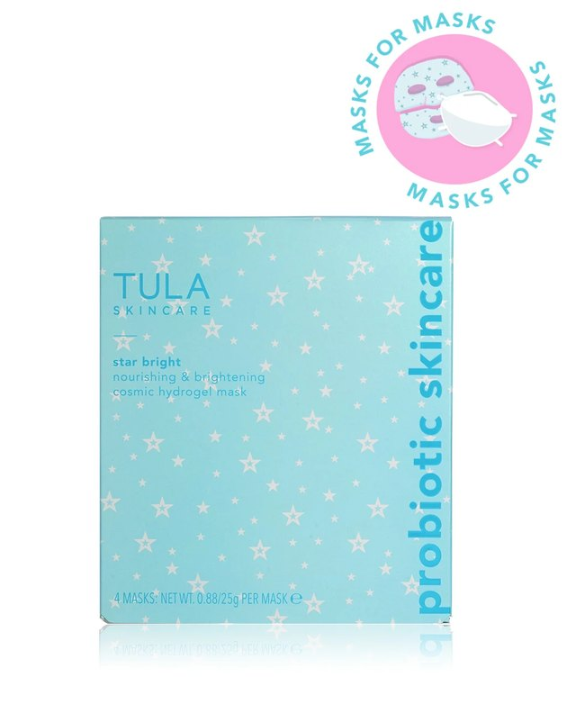 blue face mask packaging