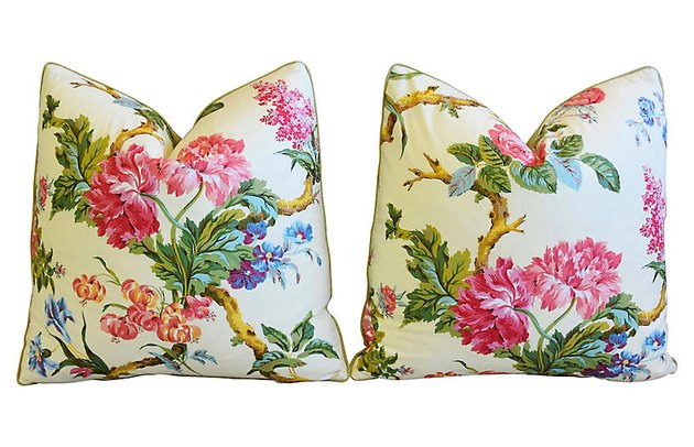 Brunschwig & Fils Floral Pillows, $319