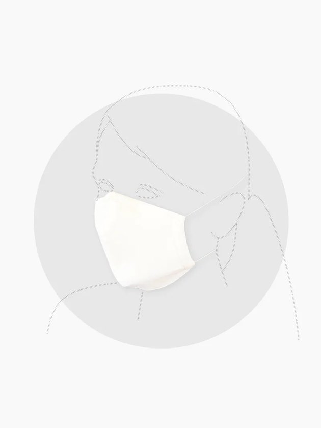 illustration of figure wearing face mask