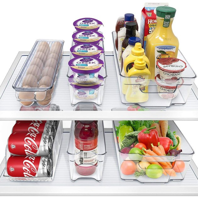 fridge clear drawers