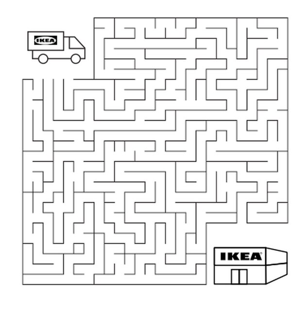 maze illustration from IKEA workbook