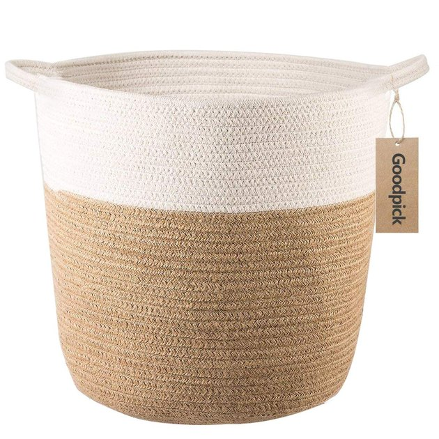 amazon goodpick cotton rope storage basket