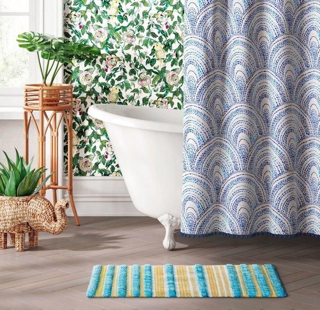 target fringe bath rug
