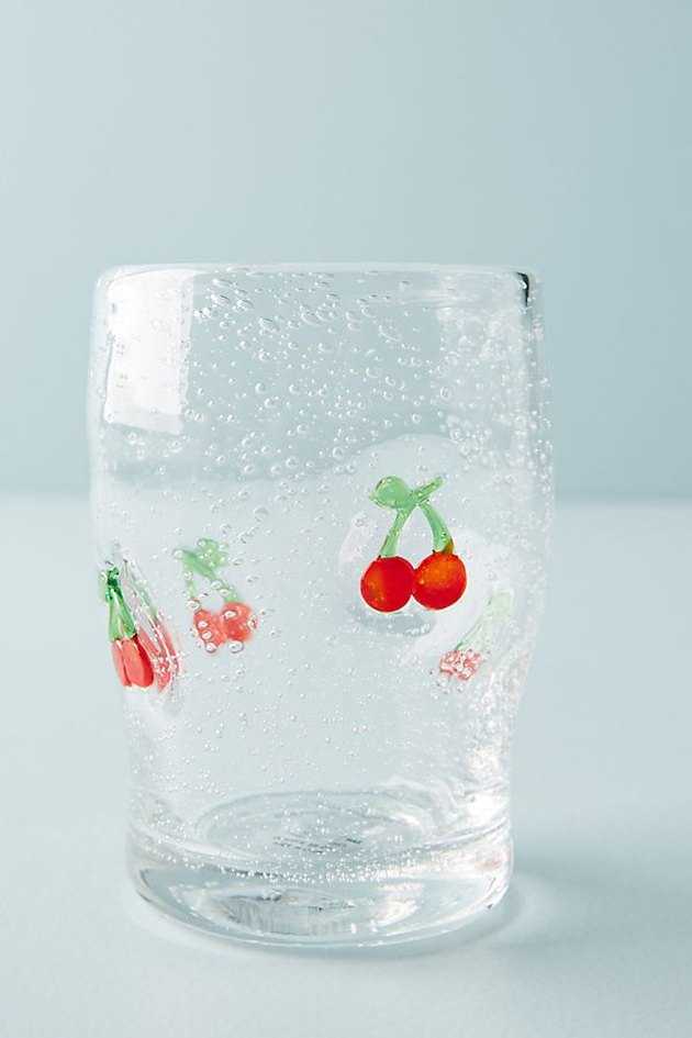 anthropologie cherry juice glasses