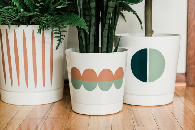 Painted modern planters