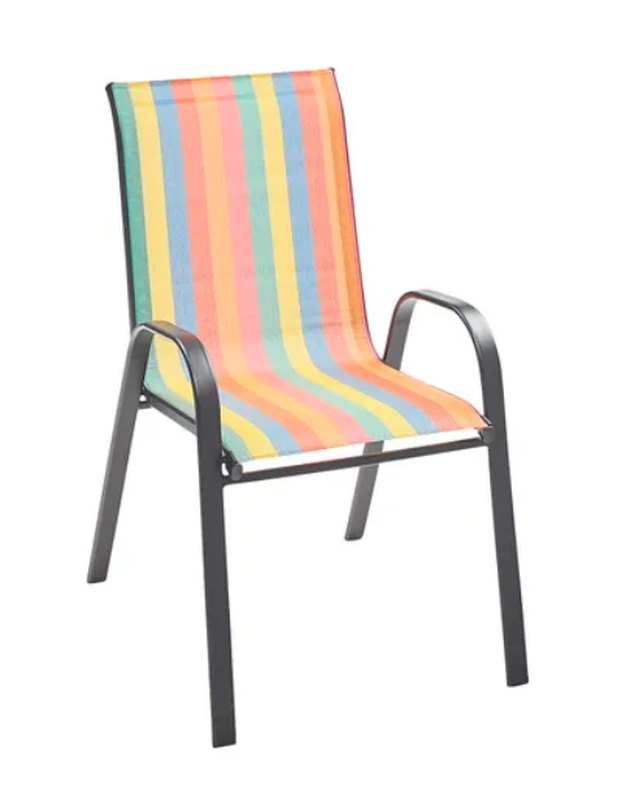 pier1 rainbow stripe chair