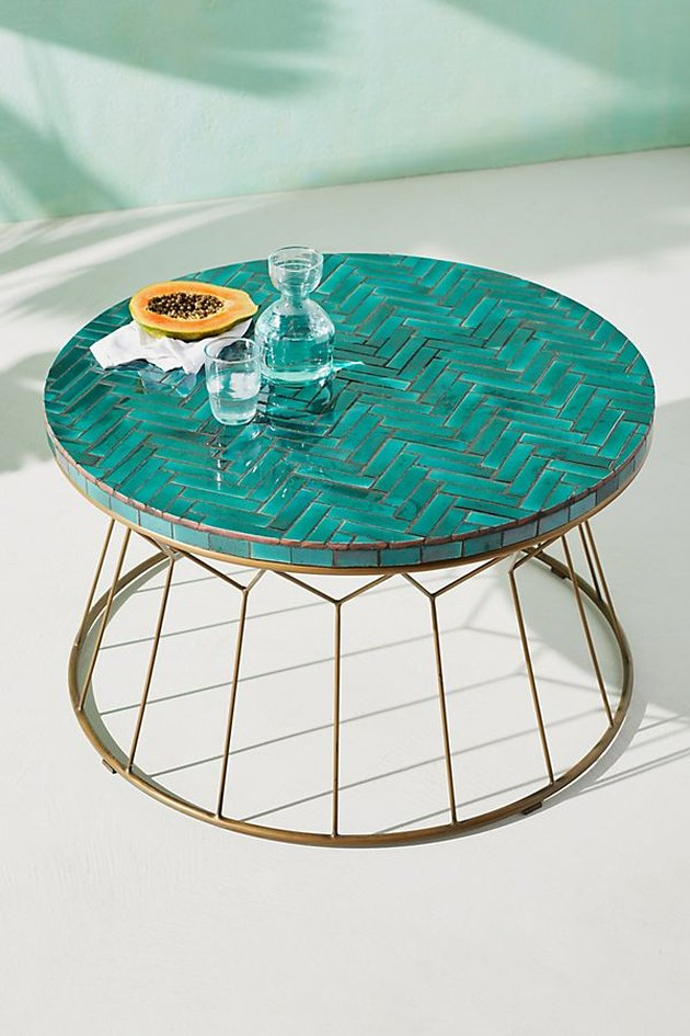 anthropologie hourglass coffee table
