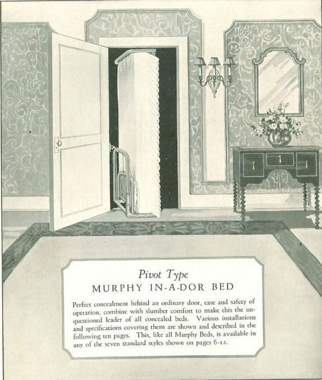 Image from a Murphy Bed Door Company promotional catalog, c. 1925.