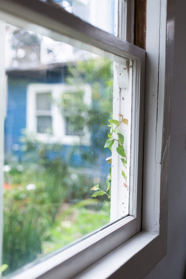 Inside window pane