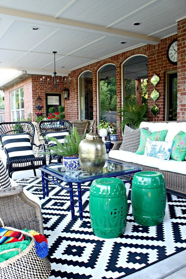 outdoor living area rug
