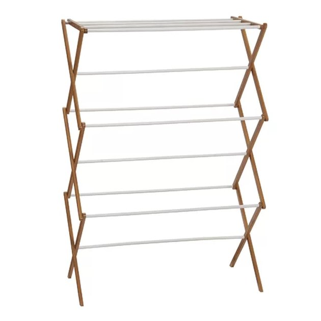 Bamboo Accordion Free-Standing Drying Rack