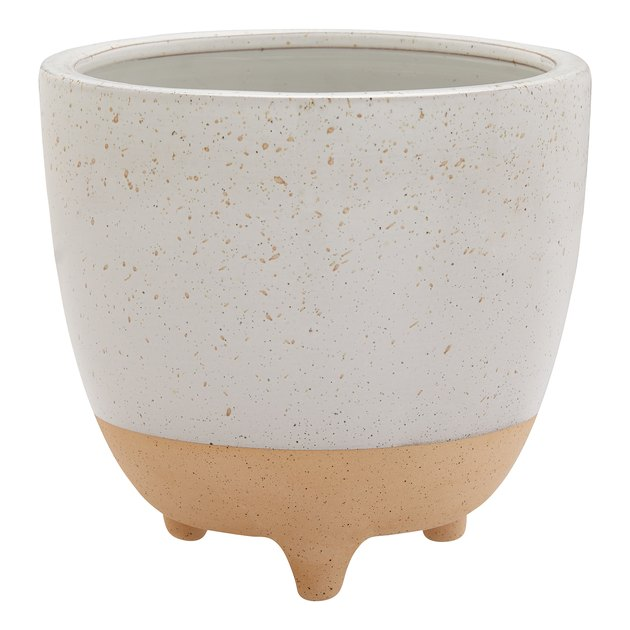 """Better Homes & Gardens Two-Toned Speckled Ceramic Planter, 10"""","""