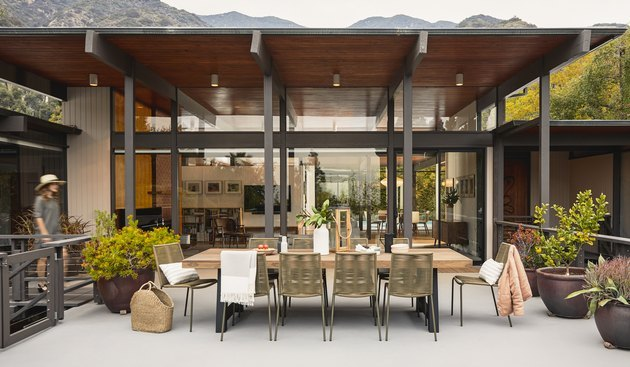 outdoor space with furniture