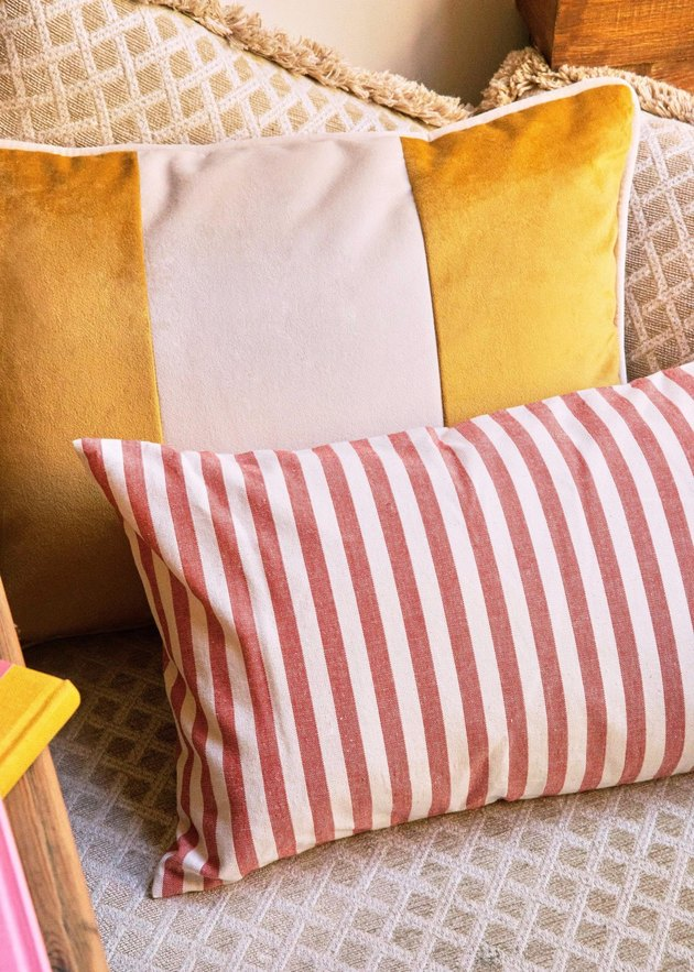 two striped cushions