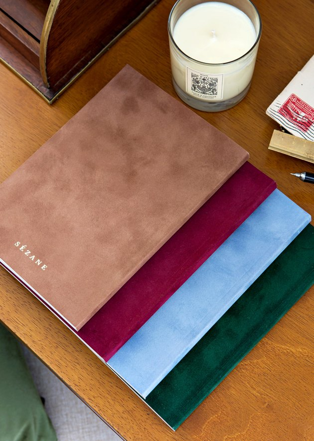 notebooks near candle