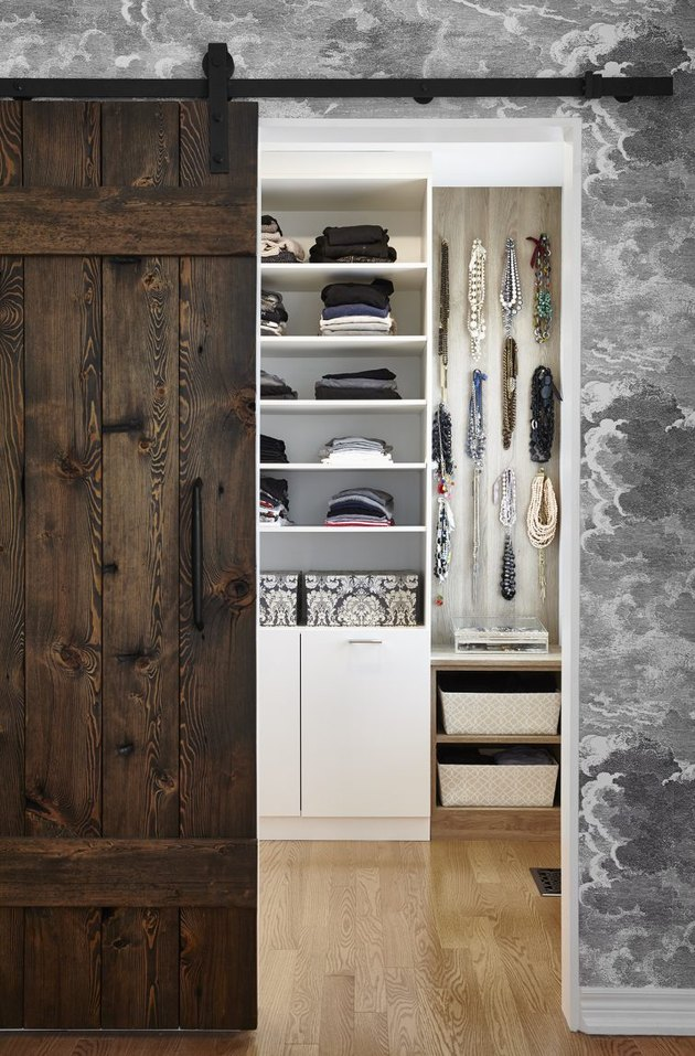Farmhouse closet closet door ideas for bedrooms