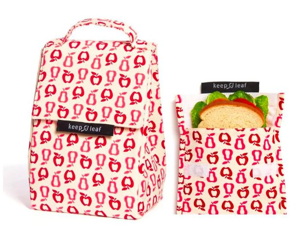 Keep Leaf Lunch Bag and Reusable Sandwich Bag
