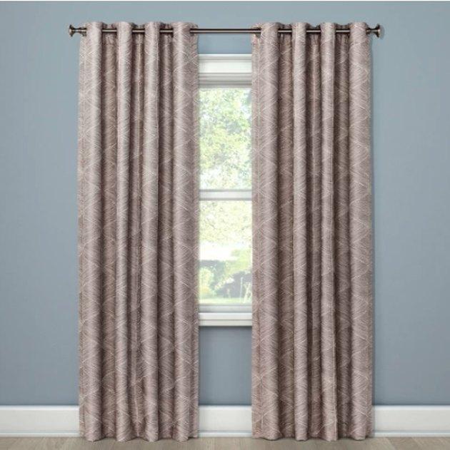 modern stroke blackout window curtains