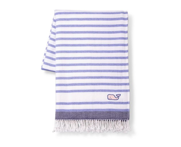 throw blanket with stripes