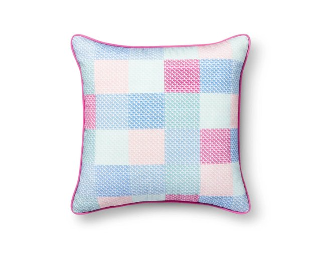 pillow with pastel hues