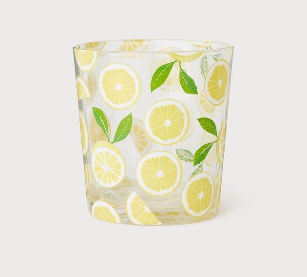lemon printed glass