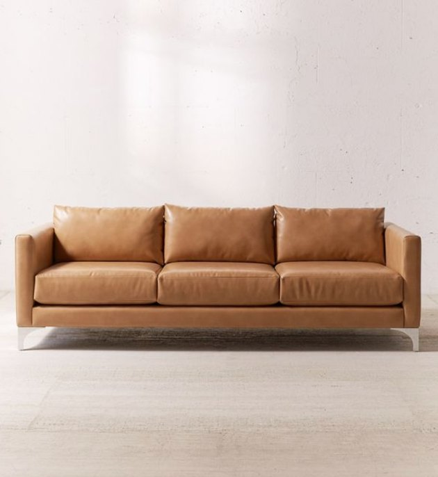 recycled leather sofa