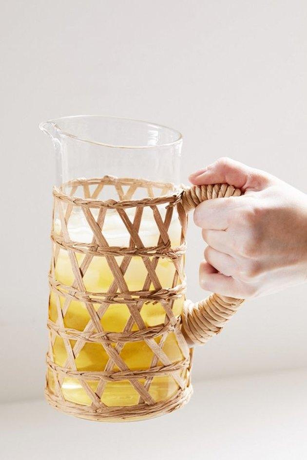 Trend Alert Beachy Boho Woven Wrapped Glassware Hunker
