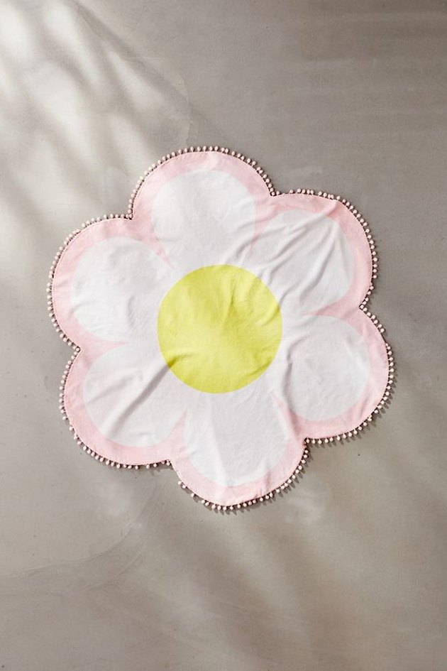 flower shaped beach towel
