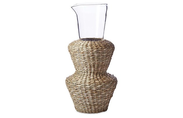 One Kings Lane Seagrass Vase, $23.99
