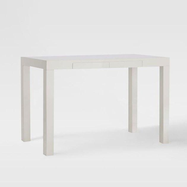 Minimal white desk