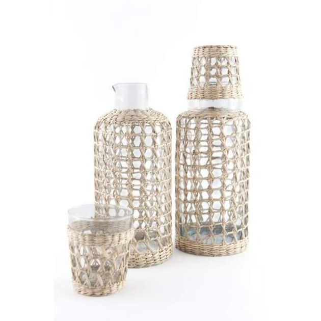 Seagrass Cage Carafe, $28