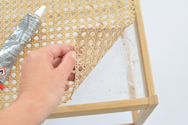 Cane Nesna Bedside Table IKEA hack